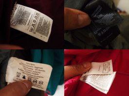 Care label produk original - Identifikasi Original or Fake Perlengkapan Outdoor