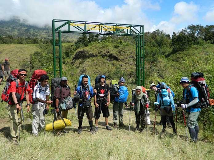 Start pendakian gunung Rinjani