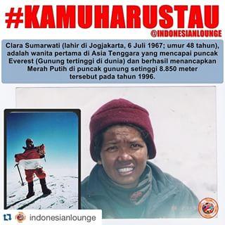 clara sukmawati pendaki wanita Indonesia pertama di Asia Tenggara yang mencapai puncak Everest