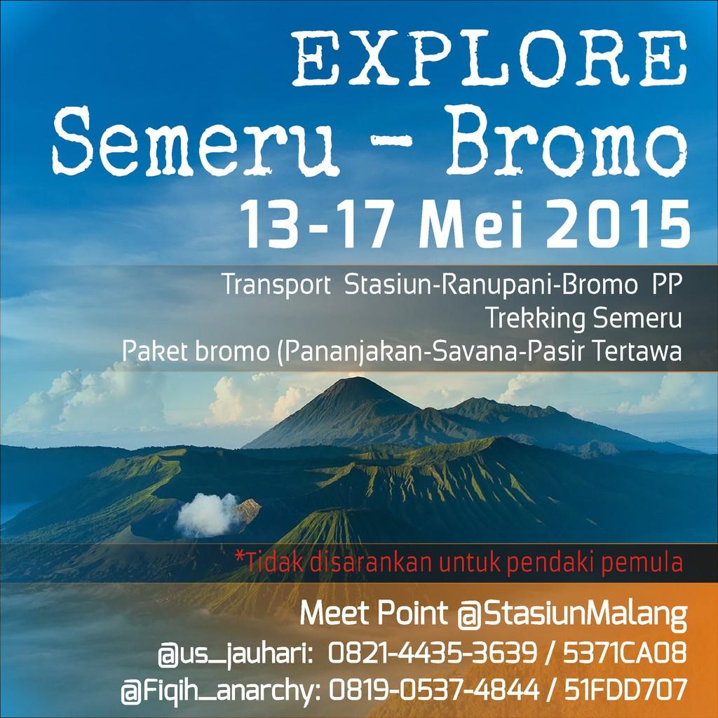Pendakian Gunung Semeru Bromo Share Cost Open Trip