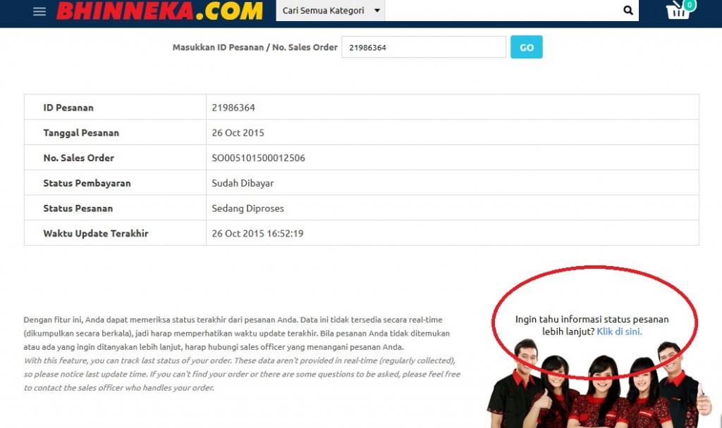 Keluhan belanja bhinneka.com