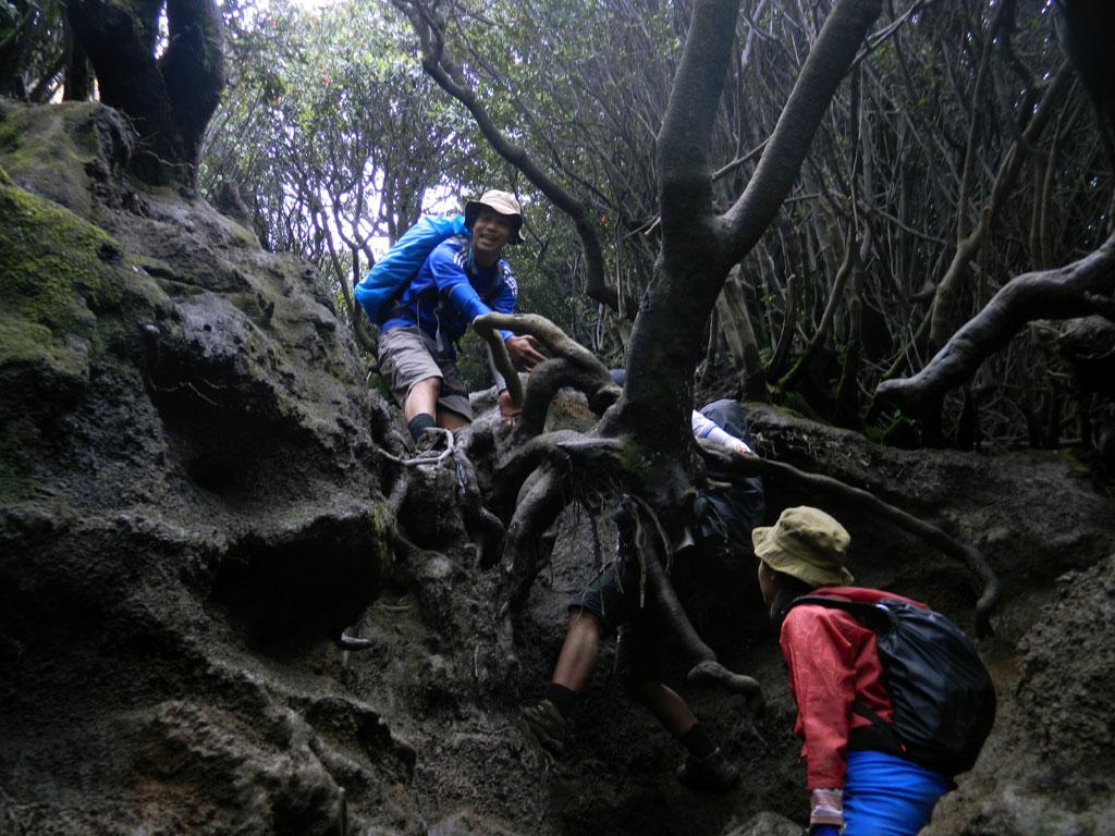 Satu dari sekian banyak trek yang melelahkan - Persiapan mendaki gunung kerinci jambi