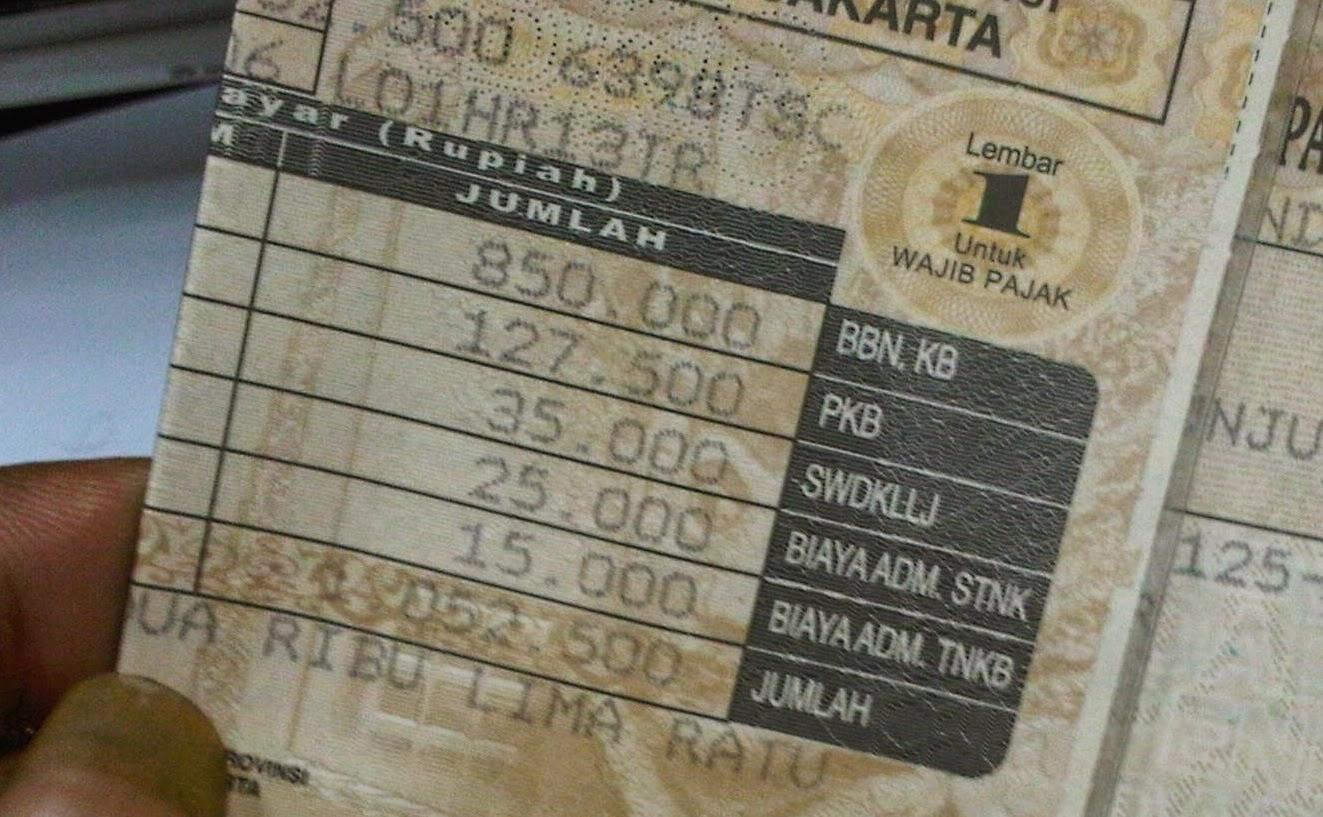 Infosamsat Biaya Resmi Ganti Stnk Dan Cetak Plat