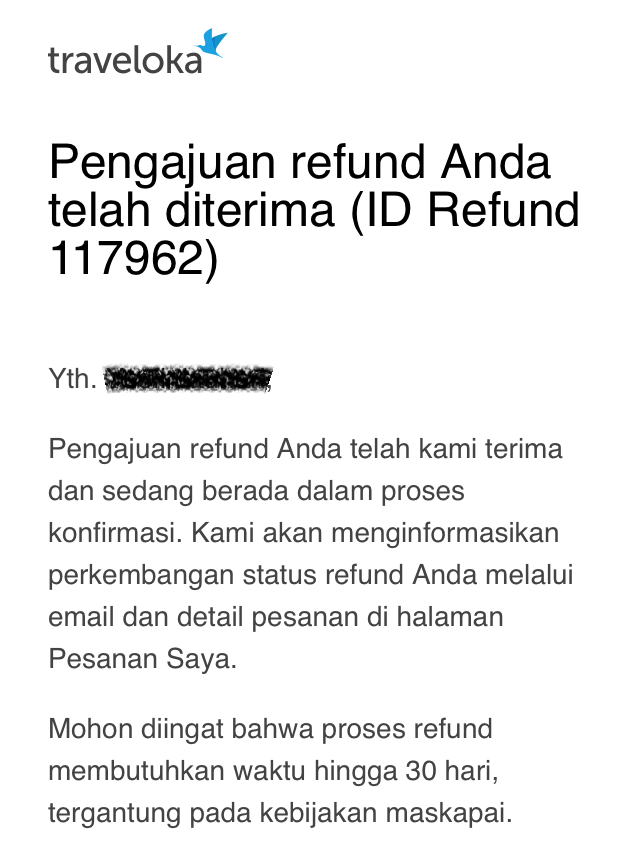 traveltips refund tiket pesawat di