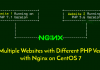#WebServer Multiple PHP version with Nginx on Debian 9