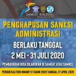 Penghapusan Denda Pajak Samsat Kalteng 2020